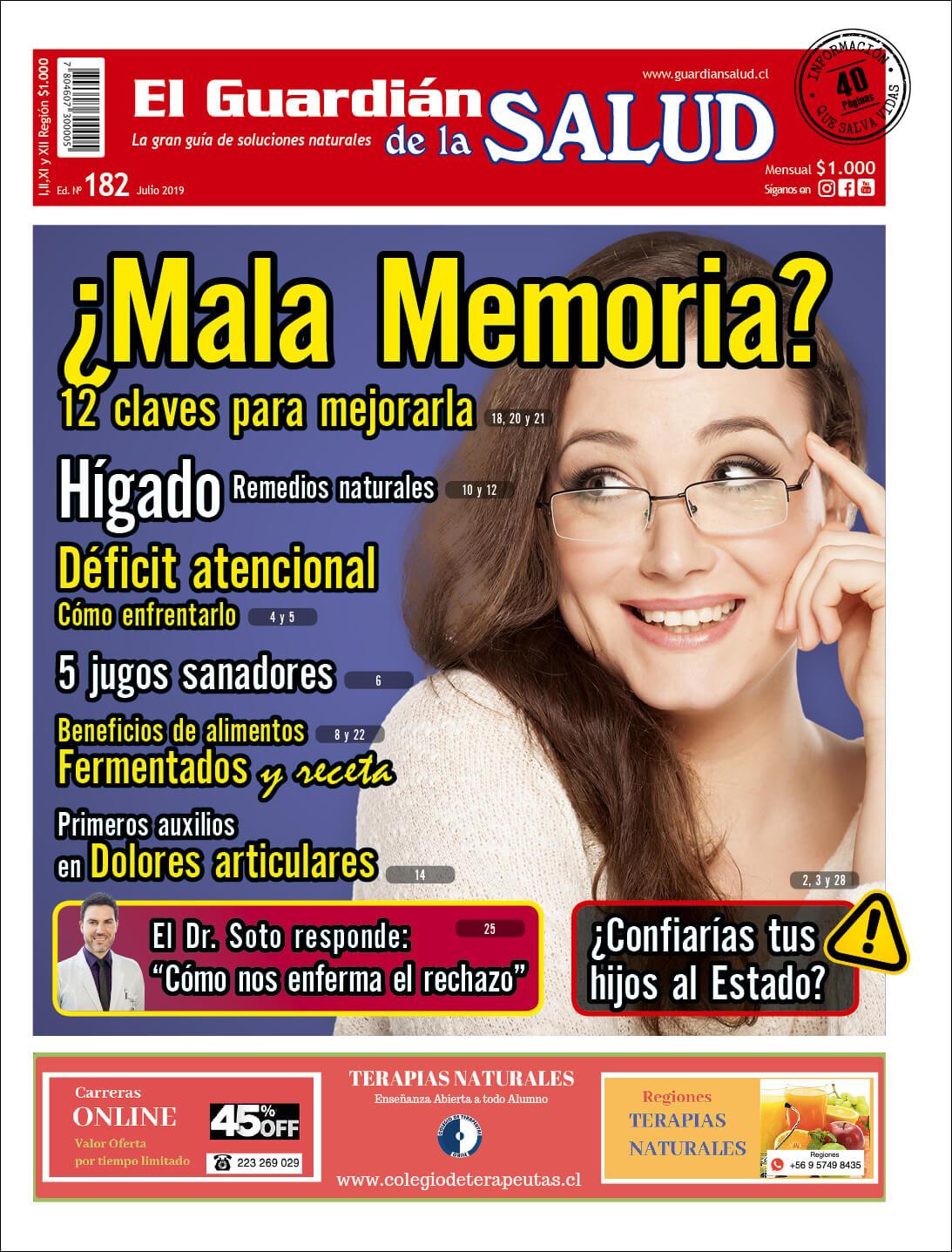 Edición 182 ¿Mala Memoria? 12 claves para mejorarla – El Guardián de la Salud Digital