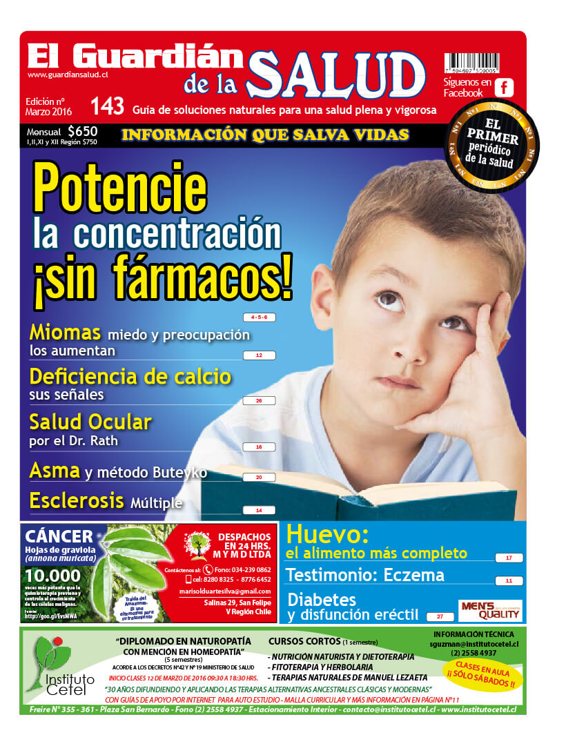 Edición 143 Potencie la concentración ¡sin fármacos! – El Guardián de la Salud Digital