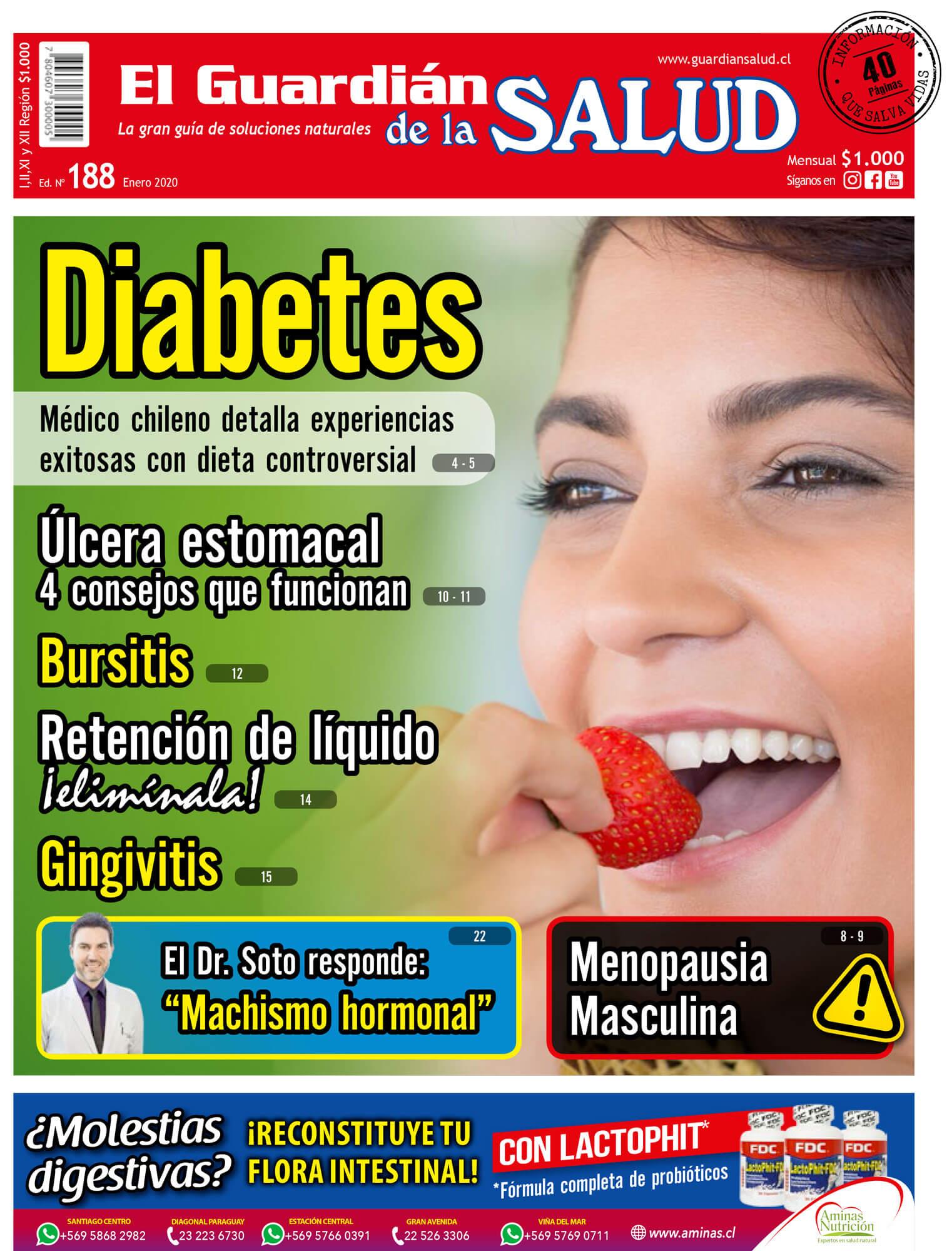 Edición 188 Diabetes: Tratamiento con dieta controversial- El Guardián de la Salud Digital