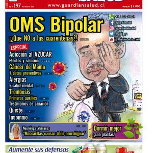 Edición 197 – OMS Bipolar ¡¿Que NO a las cuarentenas?! – El Guardián de la Salud Digital